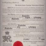 Manitoba Branch charter