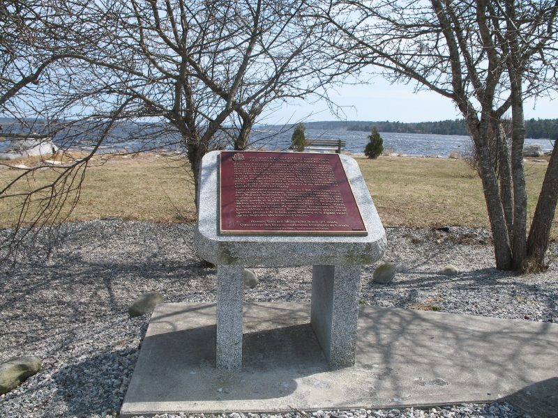 The Black Loyalists At Birchtown plaque