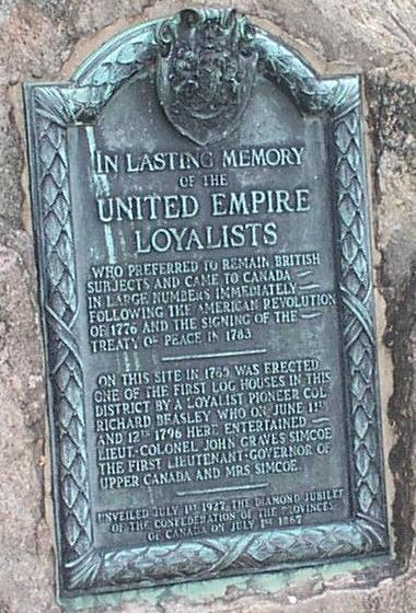 Loyalist Plaque in Dundurn Park, Hamilton