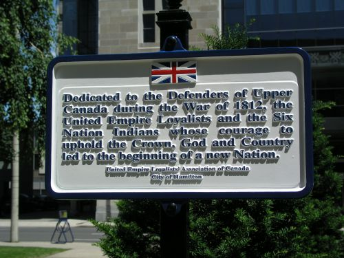 Defenders of Upper Canada Plaque in Hamilton