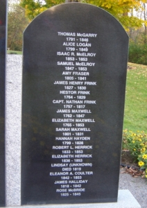 St. Stephen Loyalist Burial Ground plaque details