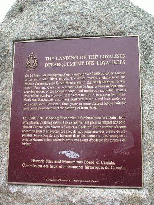 Loyalist Plaza rock & plaque