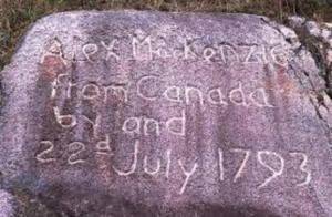 Alex Mackenzie engraved rock