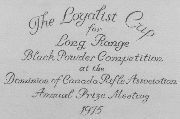 Loyalist Cup dedication