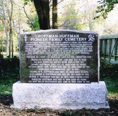Rudolph Huffman memorial stone