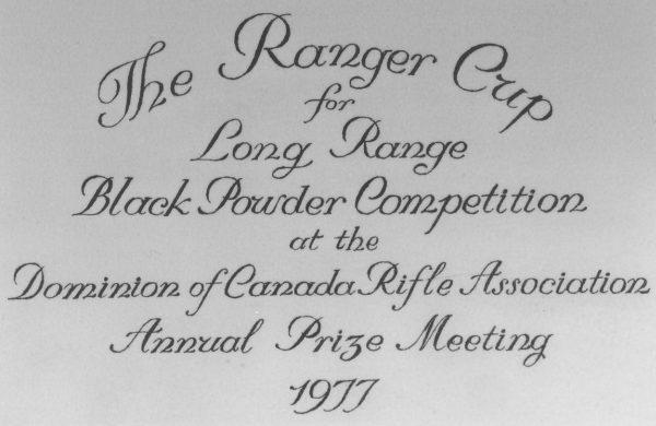Ranger Cup dedication