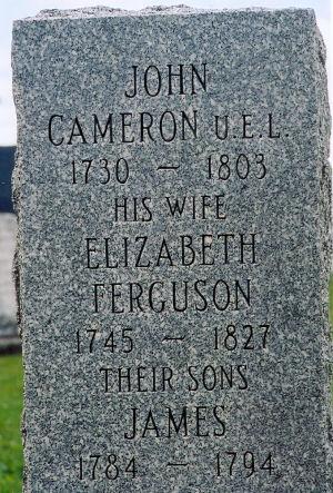 John Cameron tombstone
